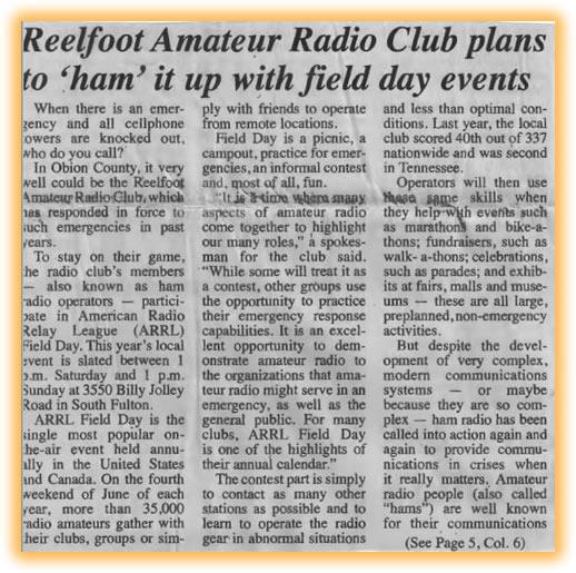 Reelfoot Amateur Radio Club